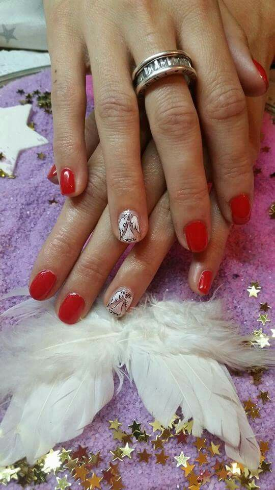 Guardian angels <3 #nails #red #christmas #angel