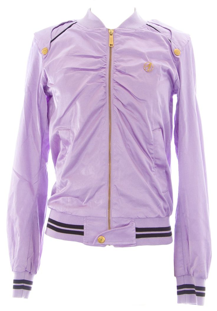 DIESEL Women's Juice LS Zip Up Varsity Jacket #00D5FP Purple Sz S NEW. Cotton Blend.