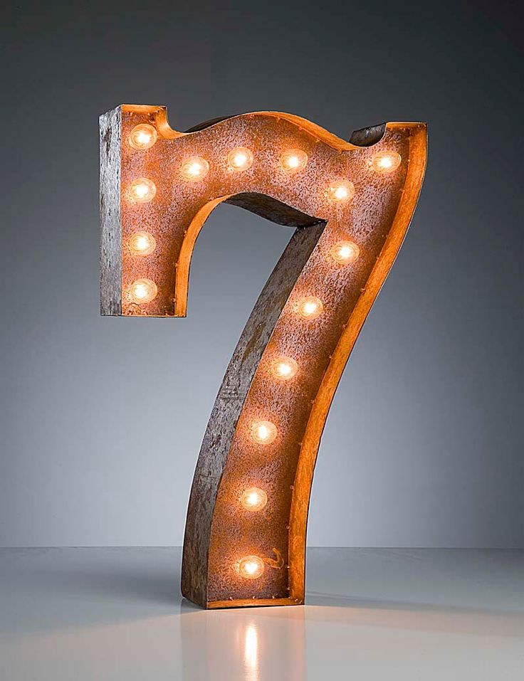 Vintage Marquee Lights Number 7 by VintageMarqueeLights on Etsy. $199.00, via Etsy. My Lucky Number!!!!!