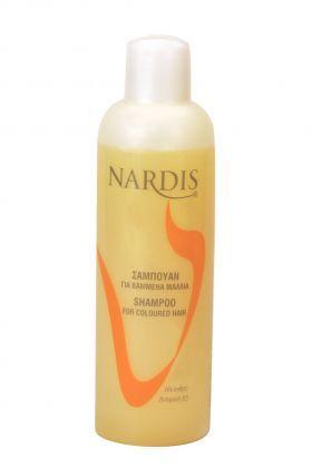 Σαμπουάν NARDIS Για Βαμμένα Μαλλιά 1000ml Σαμπουάν ιδανικό για βαμμένα και ταλαιπωρημένα μαλλιά. Περιέχει ηλίανθο, Βιταμίνη Β5 και πρωτεΐνες μεταξιού. Χαρίζει λάμψη και απαλότητα στα μαλλιά και διατηρεί το χρώμα της βαφής. Ιδανικό ακόμα και για καθημερινή χρήση χάρη στο φιλικό PH του.Τιμή €3.95
