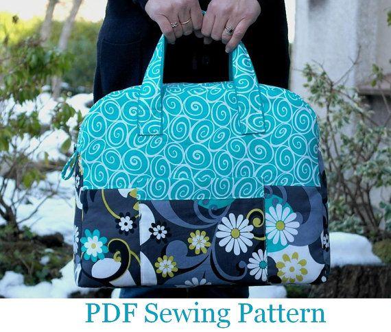 INSTANT DOWNLOAD Weekender Travel Bag Sewing Pattern PN501 pdf tutorial by SusieDDesigns