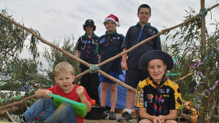 The Sale Scouts joined the festivities at Brennan Park, Sale, after taking part in the Christmas parade. Evan and Samuel King sit alongside ...