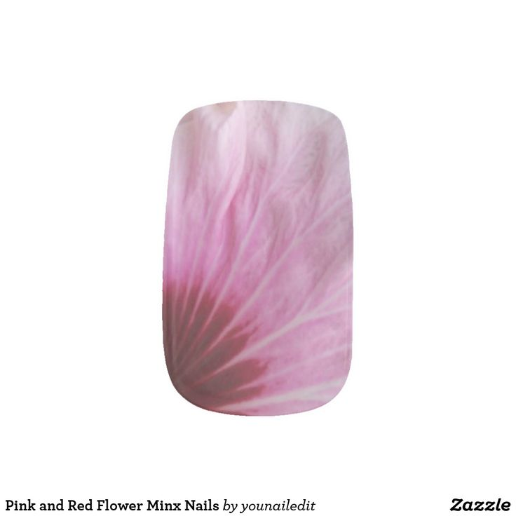 Pink and Red Flower Minx Nails Minx Nail Wraps
