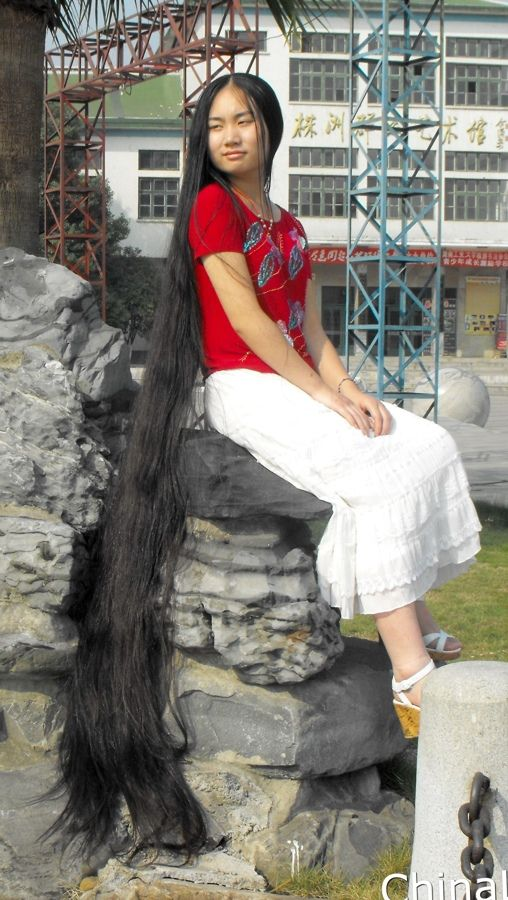 Feng Ye Super Long Hair Chinalonghar Rambut Panjang
