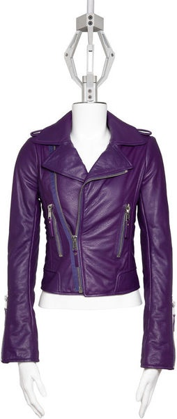 YES PLEASE!!!  I love the color!!!! BALENCIAGA Classic Biker Jacket Safari - Lyst