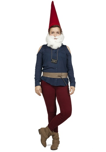 costume composed of modcloth products add a homemade hat a beard gnome costumehalloween costume ideasgarden - Halloween Beard Costume Ideas