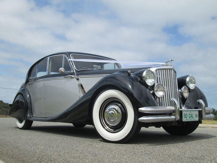 So Cal Limos 1948 Jaguar Mark 5 sedan in black & silver