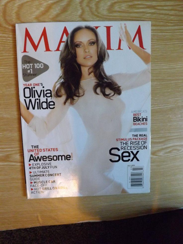 Maxim Olivia Wilde Magazine July 2009 Back Issue | Olivia ... Olivia Wilde