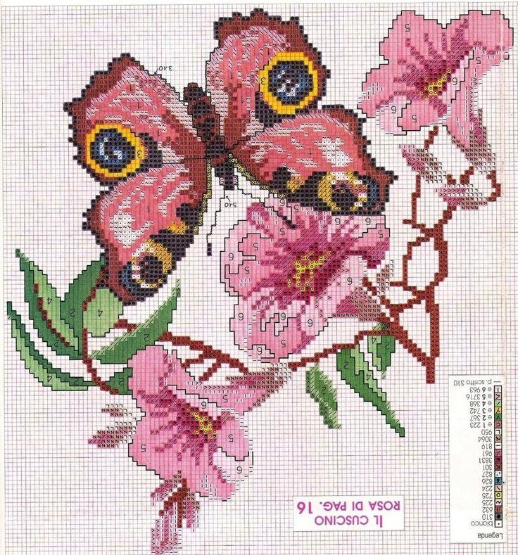 бабочки Павлиний глаз и ещё 10 схем