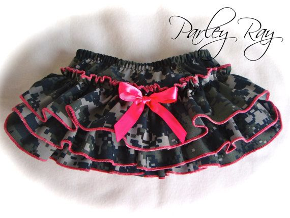 Parley Ray Daddy's Girl US Navy Digital Camouflage Ruffled Baby Bloomers / Diaper Cover / Photo Prop on Etsy, $26.00