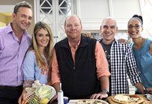 The Chew Crew (Clinton Kelly, Daphne Oz, Mario Batali, Michael Symon, Carla Hall)