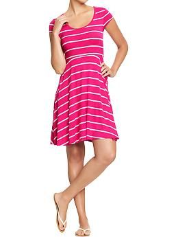 One of the least expensive and cute fit & flare dresses I've seen this season... from Old Navy.
