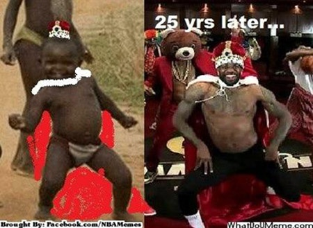 LeBron James 25 years later