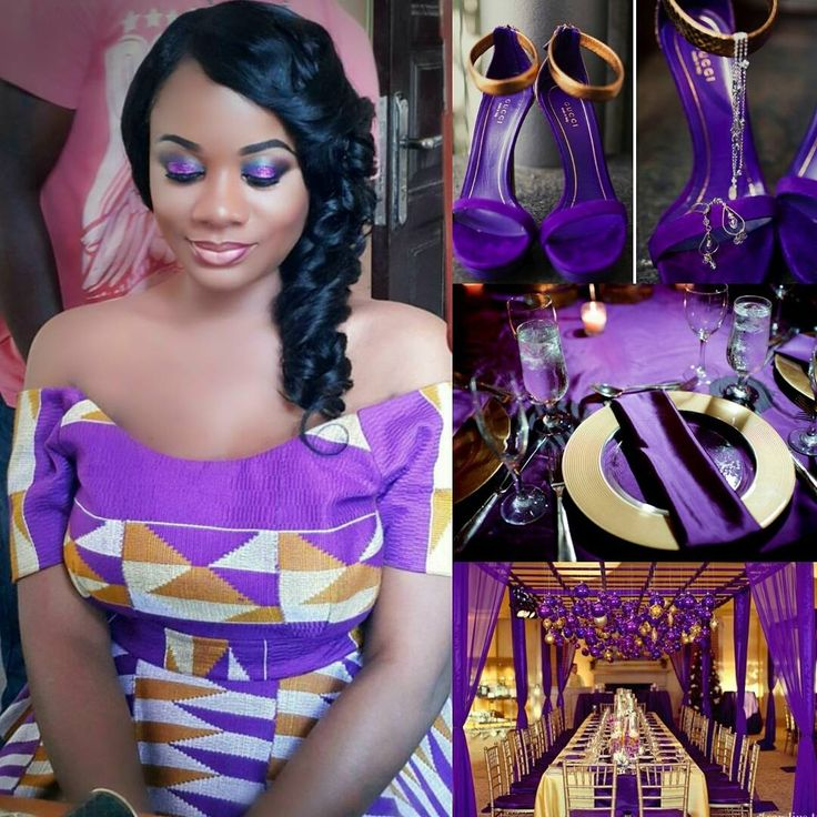 I Do Ghana | Helene OPM Events | aliiginamakeover | purple & gold theme | Kente Bride