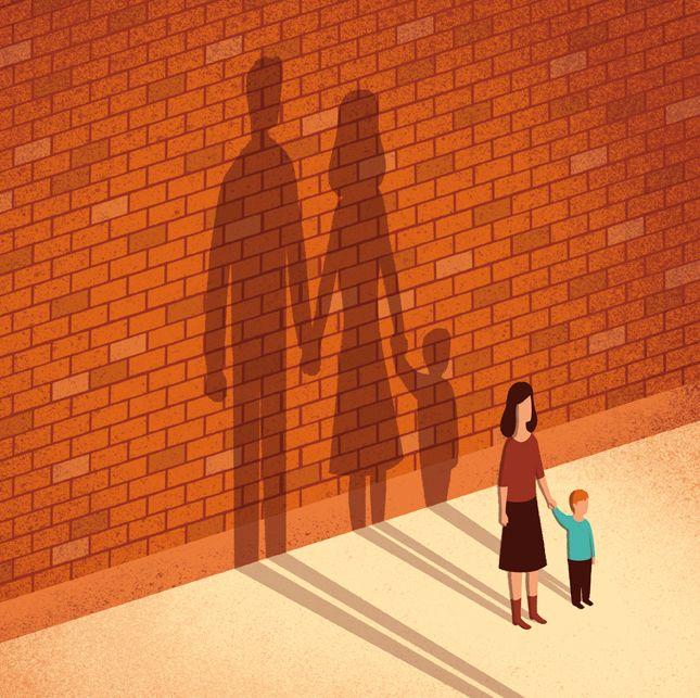 Davide Bonazzi - Absentee fathers. Client: Johns Hopkins University magazine. AD Patrick Kirchner, Robert Ollinger. Conceptual, editorial illustration http://wvw.salzint.com/davide-bonazzi.html
