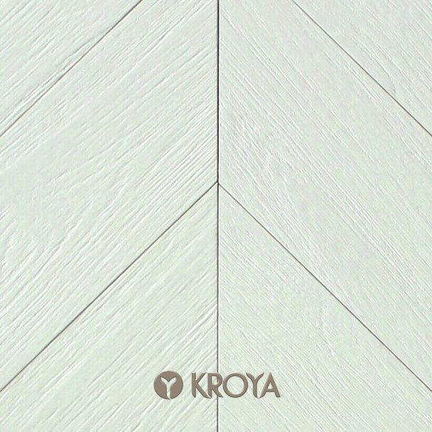 KROYA Gmelina Fishbone Stained White  www.kroyafloors.com #kroyafloors #hardwood #flooring #fishbone #interiordesign