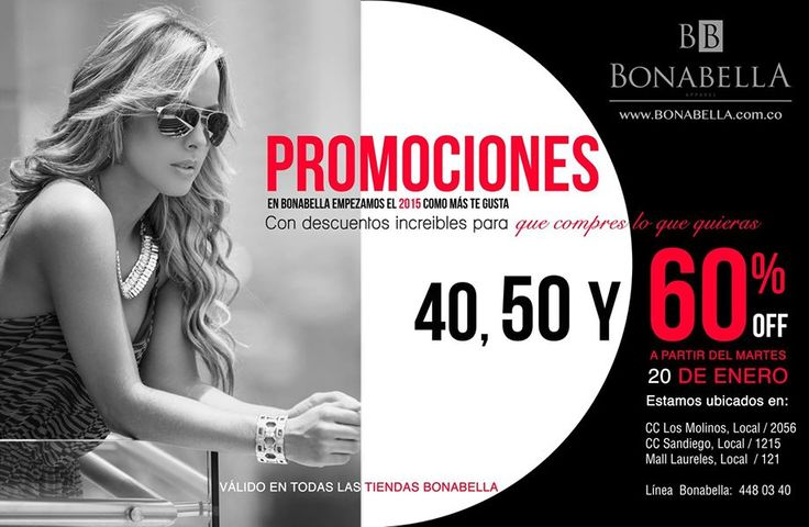 No te puedes perder las super promociones de Bonabella, encuentra en nuestras tiendas descuentos del 40, 50 y 60%