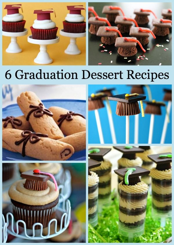 Do you have a graduate this year?  Preschool?  High School?  College?  Here are 6 Graduation-Themed Dessert Recipes to help you celebrate!
