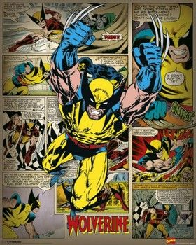 MARVEL COMICS – wolverine retro Poster / Kunst Poster