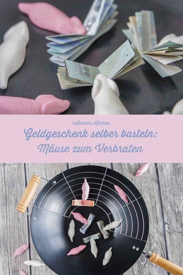 Schnin's Kitchen: Geldgeschenk basteln - Mäuse zum Verbraten