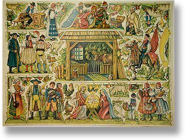 Czech nativity on paper