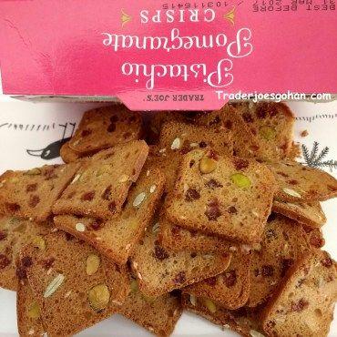 Trader Joe's Pistachio & Pomegranate Crisps $3.99 | #TraderJoes #Pistachio  #Pomegranate #Crisps