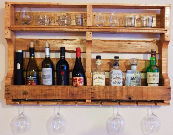 Hand Made Pallet Wine and Whiskey Rack by WIDDLEMETIMBER on Etsy