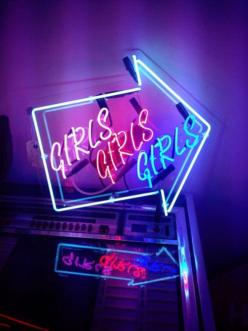 Imagen de girl, light, and neon