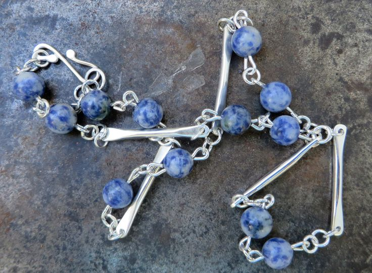 Blue Skies and Silver Linings by PeriaptJewellery on Etsy