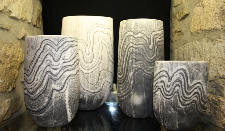 Stunning pottery by Moyra Stewart using the highly specialised technique of Naked Raku