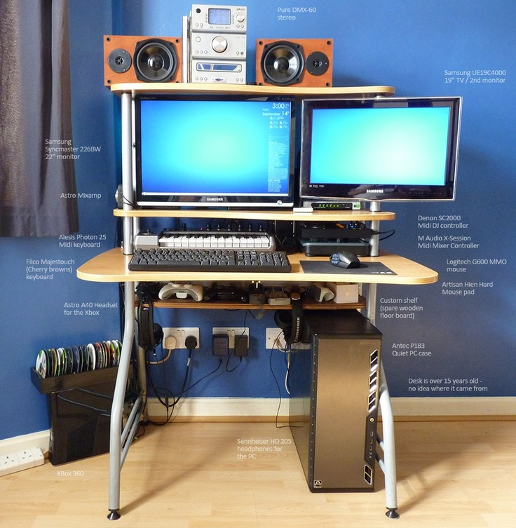 Battlestation Computer build, Astro headset, Midi keyboard