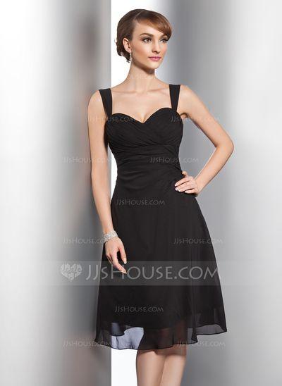 Robes de demoiselle d'honneur - $96.99 - Forme Princesse Bustier en coeur Mi-longues Mousseline de soie Robe de demoiselle d'honneur avec Plissé (007014743) http://jjshouse.com/fr/Forme-Princesse-Bustier-En-Coeur-Mi-Longues-Mousseline-De-Soie-Robe-De-Demoiselle-D-Honneur-Avec-Plisse-007014743-g14743?pos=your_recent_history_4