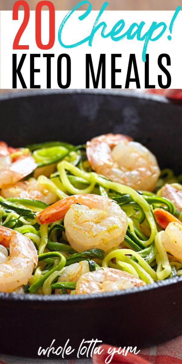 20 comidas Keto baratas para la cena