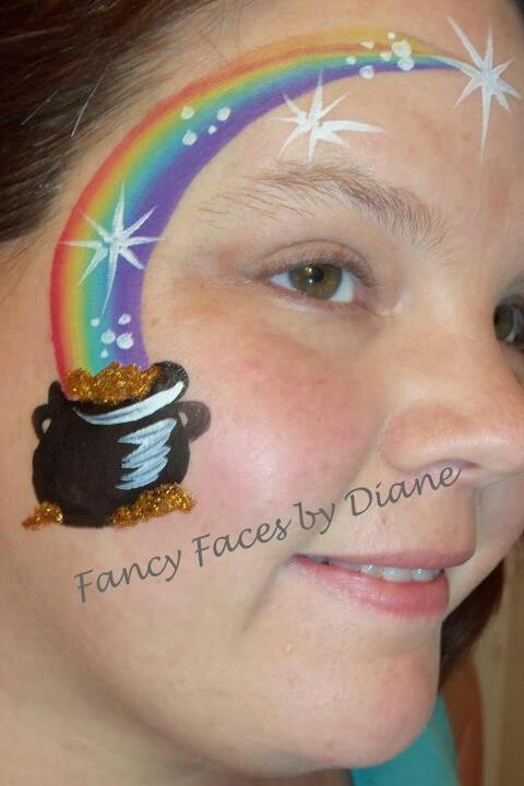 St. Patrick's day face painting idea