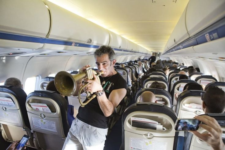 "Paolo Fresu, ""concerto"" in aereo per ""Time in Jazz 2015"""