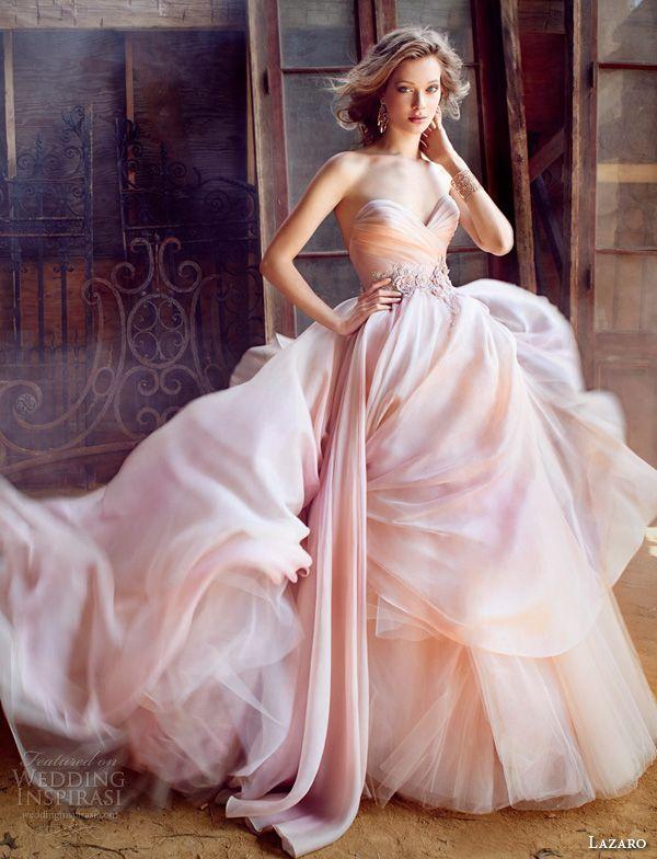 lazaro fall 2015 wedding dresses bridal silk organza ball strapless sweetheart pleated floral beaded natural tulle underlay sweep lz3561 #ballgown #weddingdresses #weddingballgown