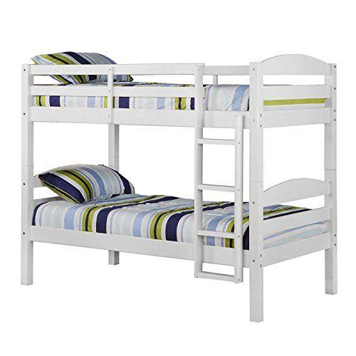 WE Furniture Twin over Twin Solid Wood Bunk Bed, White WE... https://www.amazon.com/dp/B0062F6UTW/ref=cm_sw_r_pi_dp_GElKxb0T2JR2Y