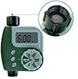 Tech Traders ® Single-Port Digital Tap Timer-Outdoor Automatic Programmable Single Tap Outlet Garden Water Timer Faucet with LCD Digital Display Green