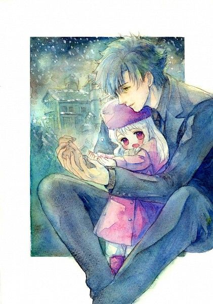 #Fate/Zero How cute! I like when characters have a softer side & it seems his daughter is one of the only things that can bring it out in him.