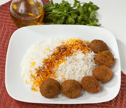 Falafel Rice Traditional Dishes - Traditional Persian Dishes to Take Out, Catering