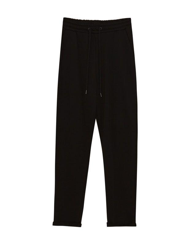 Pantalon jogging revers - Pantalons - Vêtements - Femme - PULL&BEAR France