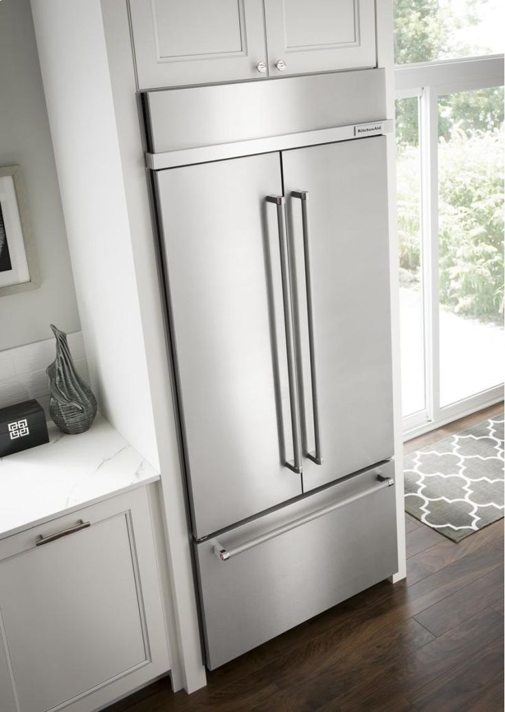 "KBFN502ESS in Stainless Steel by KitchenAid in Tampa, FL - 24.2 Cu. Ft. 42"" Width Built-In Stainless French Door Refrigerator with Platinum Interior Design - Stainless Steel"