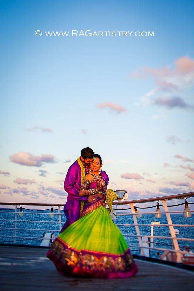 Sheena Keval Part Three Garba Night On The Ship Destination Wedding Photographer