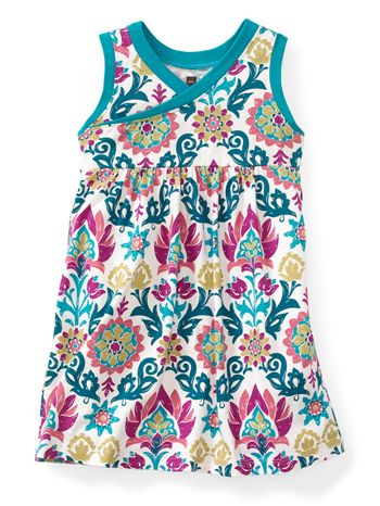 Tea Collection Holi Wrap Neck Dress available at www.tinysoles.com! #TinySoles