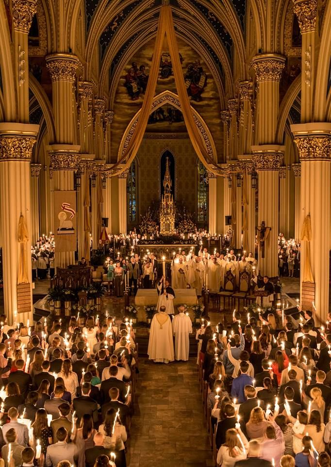 University of Notre Dame    Are you planning to celebrate Easter on campus?   Here is the Basilica of the Sacred Heart schedule for the Easter Triduum: http://ntrda.me/2oYXThD