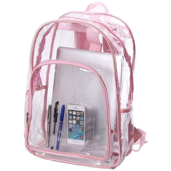 Transparent Clear School Bag See-thru Backpack Casual Daypack Outdoor... (240 MAD) ❤ liked on Polyvore featuring bags, backpacks, backpack, clear backpack, transparent backpack, shoulder bags, transparent bag и rucksack bag