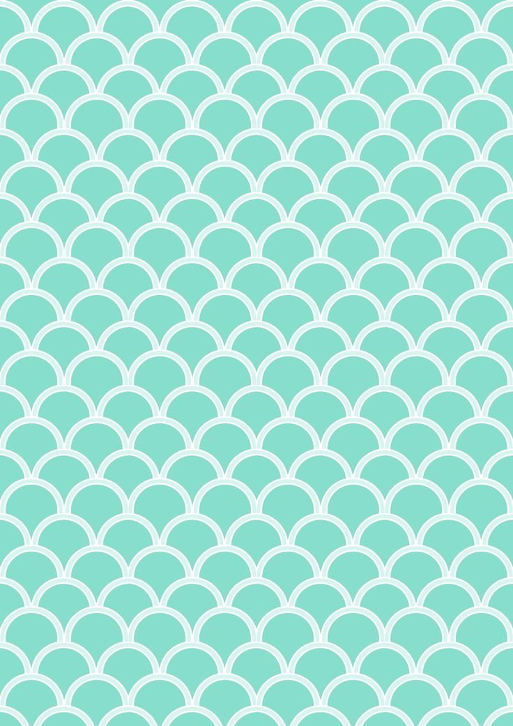 FREE printable turquoise pattern paper ^^ #scalloped #japanesewaves