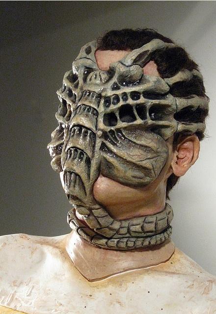 Makeup Design: Full Head Masks--fantastic idea/design--Alien
