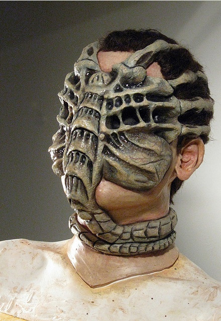 Makeup Design: Full Head Masks--fantastic idea/design--Alien