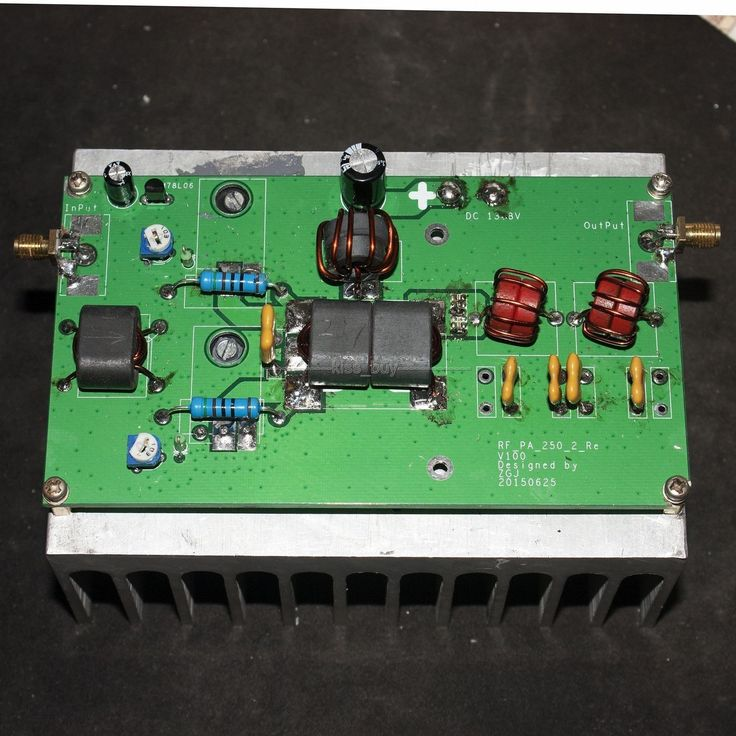 100W linear power amplifier radio High frequency RF power amplifier with low-pass for transceiver HF radio
